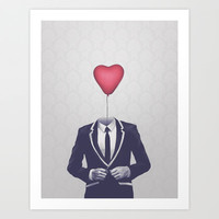 Mr. Valentine Art Print by Davies Babies