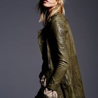 Free People Long Moto Jacket