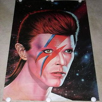 DAVID BOWIE POSTER VINTAGE 1983 ATHENA UK IMPORT