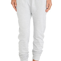 First Base Drop Crotch Trackie Pants in Light Gray