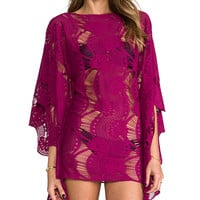 PILYQ Moroccan Monique Tunic in Wine