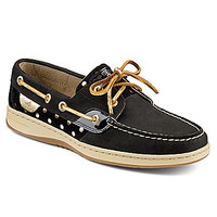 Sperry Top-Sider Bluefish Metallic Dot Boat Shoes - Navy/Silver