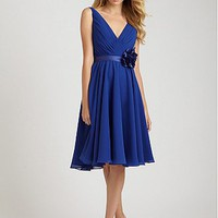 Buy discount Stunning Chiffon A-line V-neckline Bridesmaid Dress at dressilyme.com