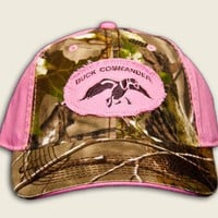 Duck Commander Womens Pink and Camo 2 Tone Logo Ball Cap