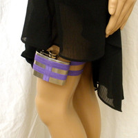Flask Garter WITH FLASK Lavender by GartersByLori on Etsy
