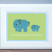 Nursery Wall Art Father's day gift Elephant by LittlePergola