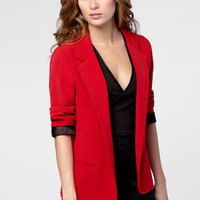 FredFlare.com - Red Hot Boyfriend Blazer - Shop Necessary Objects Blazers