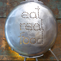 $69.51 EAT REAL FOOD Upcycled InSight Light repurposed by deadpancharm