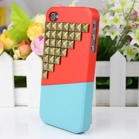 Stud Case Cover for iPhone 4gs/4s by fashioncase