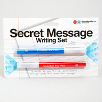 Secret Message Writing Set - Black Light Ink Pen Set