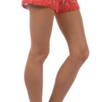 Pink Shorts - Coral Crochet Overlay Shorts with | UsTrendy