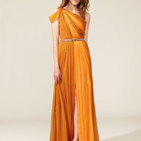 Asymmetrical One Shoulder Knot Gown by Matthew Williamson up to 60% off at Gilt