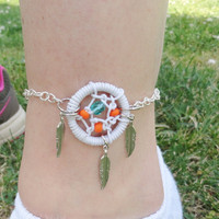 Dream Catcher Anklet by MidnightsMojo on Etsy
