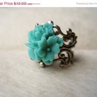 Mermaid Flower Bouquet Ring by PiggleAndPop