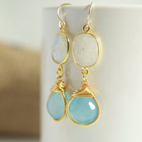 Blue Chalcedony Earrings Blue Chalcedony Earring by Jewels2Luv