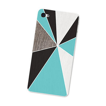 Geometric iPhone Skin Wood Iphone Skin 4S Gadget by fieldtrip