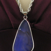 Natural stone long necklace-purple/blue - LAVISHY Boutique
