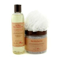 Carol's Daughter Lavender Heavenly Body Set: Bath Salts + Cleansing Gel + Loofah Sponge - 3pcs