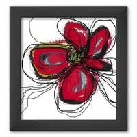 Art.com Butterfly Red Framed Art Print by Jan Weiss