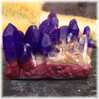 Amethyst Geode Crystal Glycerin Soap Rock Formation by Soapsmith