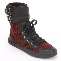 Unleashed by Rocket Dog Red Plaid High-Top Shoes - Women