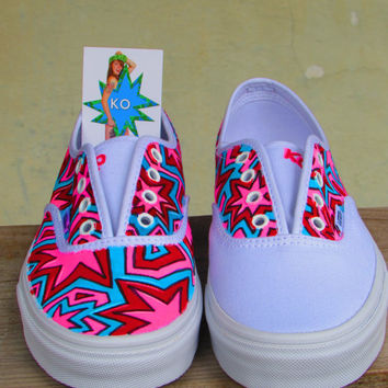 Custom Hand Painted Vans - The Smart Girl Scheme
