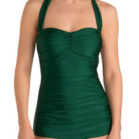 Esther Williams Bathing Beauty One Piece in Emerald