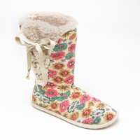 Unleashed by Rocket Dog Snowy Snow Petal Lace-Up Boot Slippers - Women