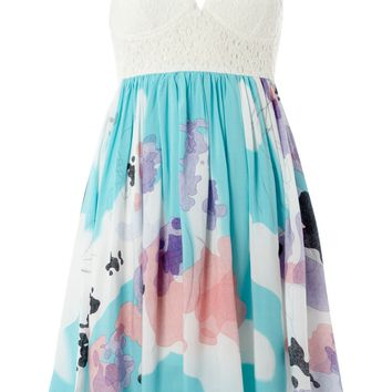 Izabel London Izabel floral dress Aqua - House of Fraser