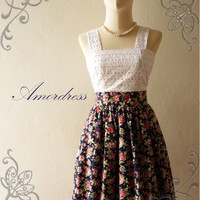 Amor Vintage Inspired Classy Lace and Floral Vintage by Amordress