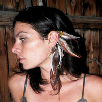 Fauna Feather Ear cuff by SpiritTribe on Etsy