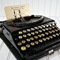 Vintage Portable Remington Typewriter