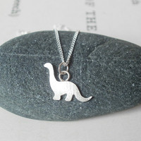 Dinosaur Necklace In Sterling Silver, The Brontosaurus Version