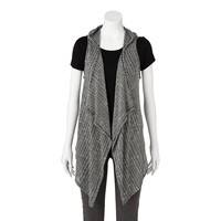 About A Girl Drape-Front Hooded Vest - Juniors
