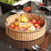 Woven Serving Trays and Accessories