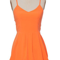 Juniors Clothing - Hot & Delicious - Orange Highlighter Dress - chloelovescharlie.com | $46.00