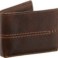 Fossil Wallet : Gage Traveler In Brown