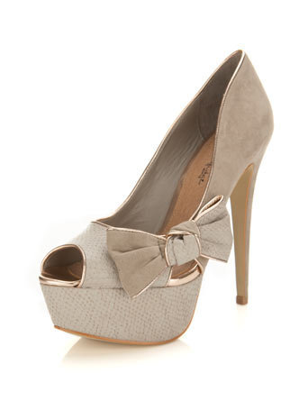 Sasha Grey Side Bow Heel - Miss Selfridge
