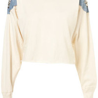 **Albino Cropped Sweat by The Ragged Priest - Designers - Topshop