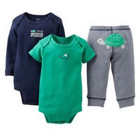 Carter's Turtle Turn Me Around Bodysuit Set - Baby