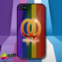 Gay Pride Flag Female iPhone 4 iPhone 4S Case Cover - 1990-Now