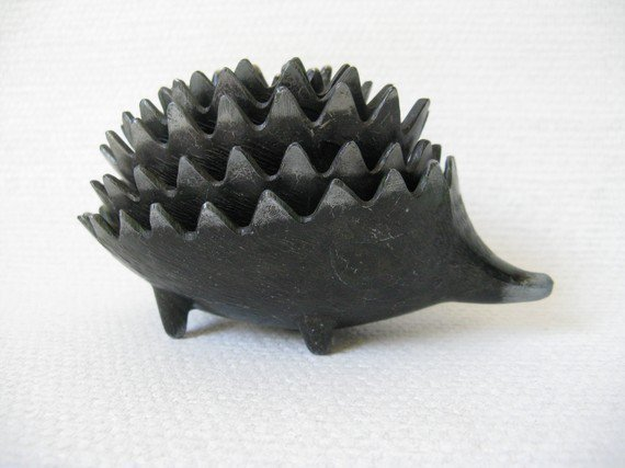 Walter Bosse Cast Metal Hedgehogs Stacking Ashtrays by windesign