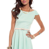 Pretty Penny Dress in Mint :: tobi