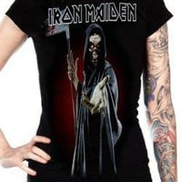 ROCKWORLDEAST - Iron Maiden, Girls T-Shirt, Reaper