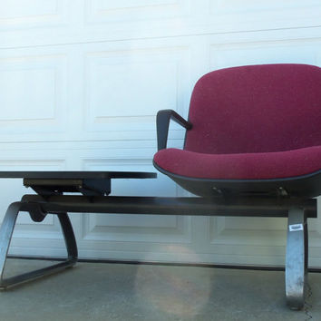 Steelcase Mid Century Modern Waiting Room Chair With Formica Walnut Table Metal Mid Century Modern Furniture Vintage Painted Home Decor