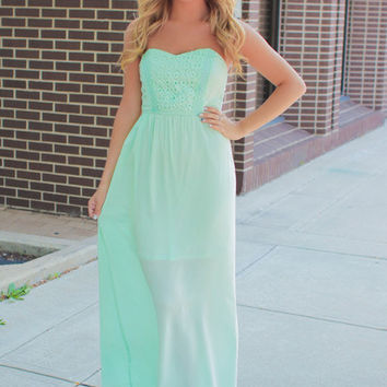Something Blue Maxi - Mint