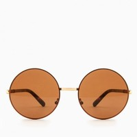 AUGUST SUNGLASSES IN AMBER AND COPPER