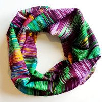 India Silk Toddler Infinity Scarf Multicolor Childrens Tube Scarf Toddler Fashion Accessories Childs Circle Scarf Kids Scarves