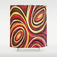 Tribal Eyes Shower Curtain by gretzky