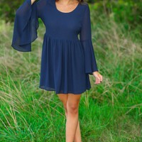 The One Who Got Away Dress-Navy